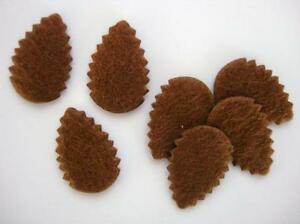 50 Brown Felt Pine Cone Applique/Christmas/trim H392