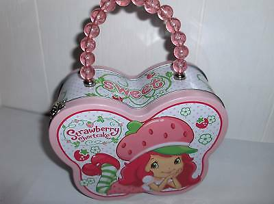 Strawberry-childs Metal Purse`w Bead Handel`new->free To Us