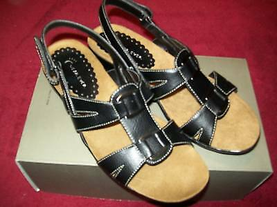 Womens Wear Ever Bare Traps gee Shoes Black Size 7