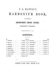 HARMONIUM-MUSIC-J-L-HATTON-039-S-HARMONIUM-BOOK-C-1860