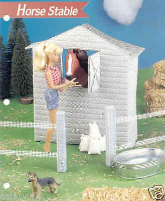 Fashion Doll Horse Stable Plastic Canvas Pattern