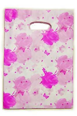 100-Plastic-Shopping-Gift-Goody-Bags-Violet-Red-Rose-8