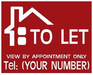 TO LET /FOR SALE Simple Personised sign boards X2