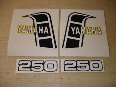 1982 Yamaha Yz250 Tank And Side Panel Decals Ahrma