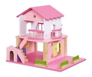 puppenhaus pink aus holz mit hundehütte 2 treppen puppen haus, Schlafzimmer design