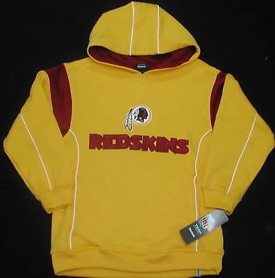 Redskins Reebok Hooded Sweatshirt Hoodie Youth S M L Xl