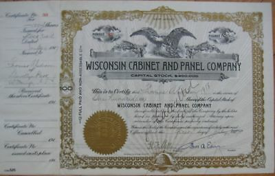 1917 Autograph/Signed THOMAS A EDISON Stock Certificate