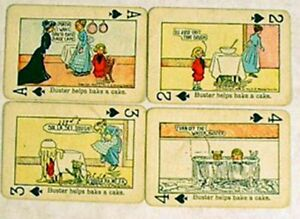 1906 Buster Brown/Outcault Card Set of 4- Comic Strip