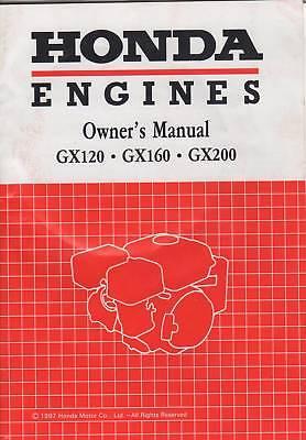 1997 Honda Engines Gx120/160/200 Owners Manual