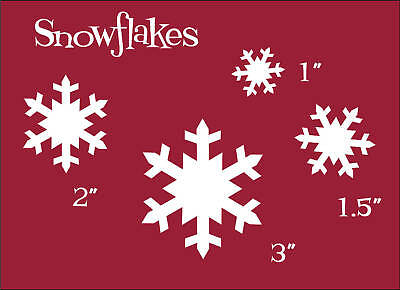 Stencil Winter Snowflakes Country Christmas Home Decor Primitive Craft Signs
