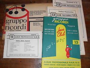ALBUM-PROFESSIONALE-R-R-R-N-13-GRUPPO-RICORDI-1961