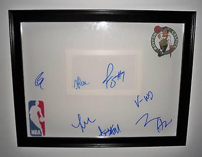 Boston Celtics RAJON RONDO Team Signed Basketball COA!!