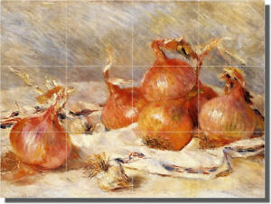 Renoir Onions Vegetables Ceramic Tile Mural Backsplash