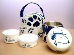 Snoopy-Thermal-Vacuum-Lunch-Bento-2-Containers-Bag