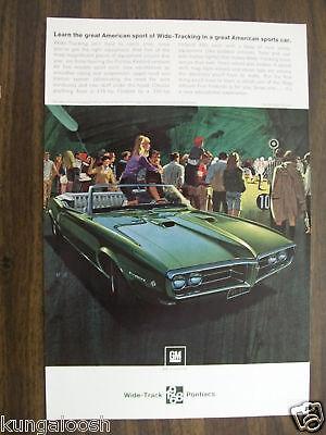 ORIGINAL 1967 PONTIAC FIREBIRD PHOTO AD,GM SPORTS CAR