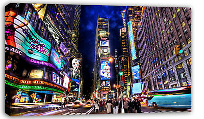 LARGE NEW YORK CANVAS TIMES SQUARE MODERN WALL ART A1