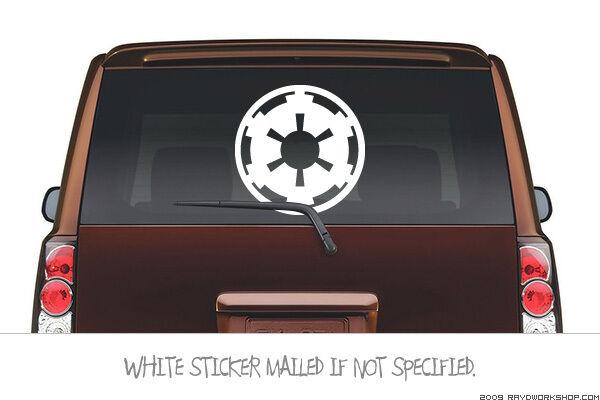 (Large) Star Wars Imperial COG Symbol Sticker Die Cut Decal