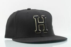 Huf-H-Logo-Double-Stitch-Hat-Black-Gold-supreme-s-7-1-2