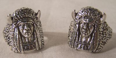 Medicine Man Biker Rings Br112r Jewelry Heavy Ring Silver Mens Womens