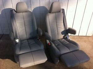 NEW-CAPTAIN-CHAIR-BUCKET-SEATS-LEATHER-RECLINER-RV-VAN
