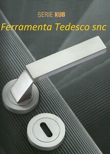 Maniglie per porte interne cromo satinato sicma kub ebay - Maniglie porte interne cromo satinato ...