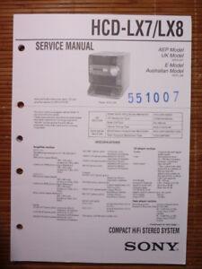 original Ein Bereicherung Und Ein NäHrstoff FüR Die Leber Und Die Niere Service Manual Sony Hcd-lx7/lx8 Hifi-system Tv, Video & Audio