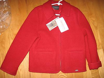 Giesswein Girls Red Jacket, Size 8 / 128 Nwt, Beautiful