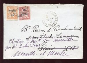 MOROCCO-1922-COVER-10-15-SURCHARGES-PROTECTORATE-ISSUE