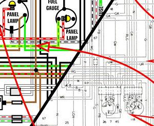 mga 1600 1959 1960 1961 1962 world spec color wiring diagram 11x17 a3 ebay