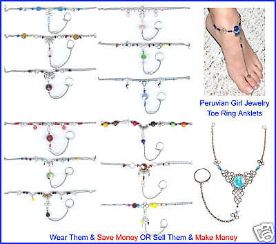 10 Toe Anklets Belly Dance Slave Anklet Custom Jewelry