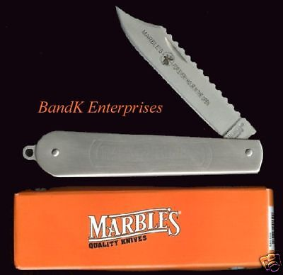 Marbles Stainless, Folding Fish Knife/knives - Mr139 - In Box