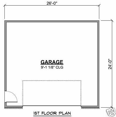 26 39 X 24 39 2 Car Garage Plans Blueprints Plan 0915 Ebay