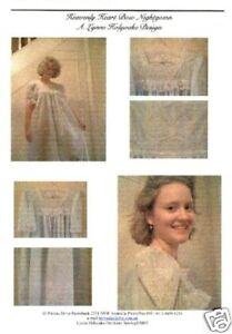 Lynne Holyoake's Heirloom Sewing Nightgown Pattern, High yoke, Madeira hem 8-28