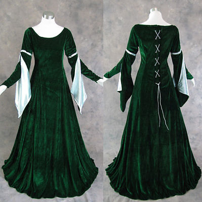 Medieval Renaissance Gown Dress Costume LOTR Wedding 4X on Rummage