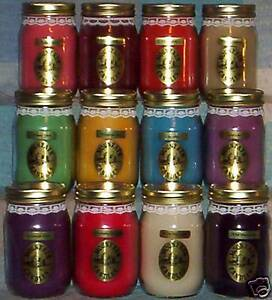12 Triple Scented 16 Oz Wax Jar Candles Wholesale