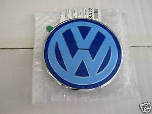 VW Beetle 01-05 Solid Rear Boot Badge Blue/white