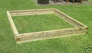 Large Versatile Wood Garden Pond Raised Bed Planter Ebay