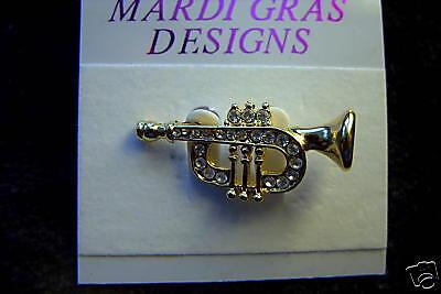 Cute trumpet/cornet Brooch Horn Pin