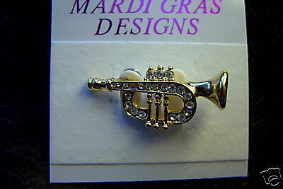 Cute trumpet/cornet Brooch Horn Pin