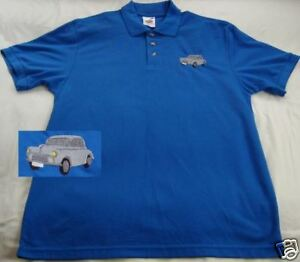 Morris Minor embroidered on Polo Shirt