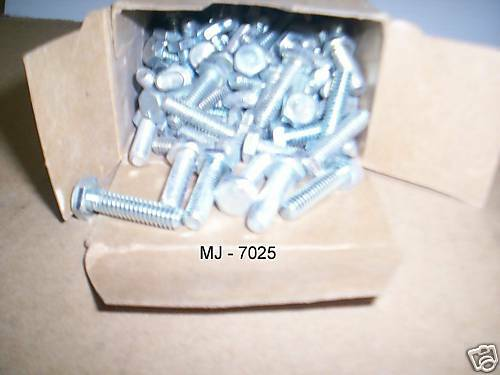 "Box of 100 - 1/4"" Hex Head Machine Bolts (NOS)"