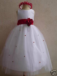NEW-WHITE-FLOWER-GIRL-PAGEANT-WEDDING-DRESS-SZ-2-TO-12