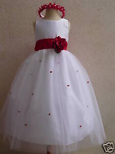 NEW-WHITE-FLOWER-GIRL-PAGEANT-WEDDING-DRESS-SZ-2-TO-12