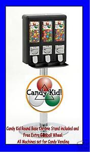 Red-Black-Yellow-Candy-Kid-Triple-Vending-Machines