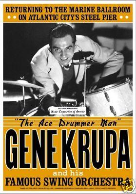 Jazz: Gene Krupa at Atlantic City Concert Poster 1941