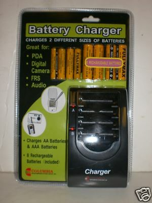 Battery Charger Nip 8 Rechargeable Batteries Incl.