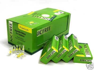 New NicFree Disposable Cigarette Filters - 20-Packs Filter out Tar and Nic