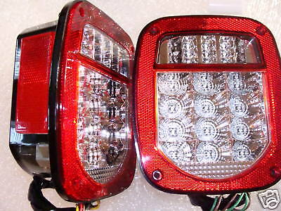 jeep tj wrangler led tail lights 2001 to 2006 with flasher. Black Bedroom Furniture Sets. Home Design Ideas