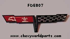 1981 Corvette Fuel Gas Door Emblem 81