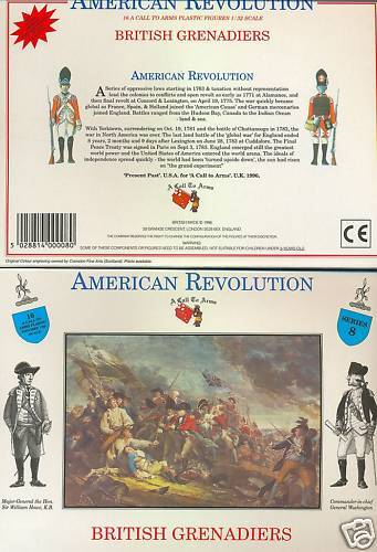 A CALL TO ARMS 8 BRITISH GRENADIERS - AMERICAN REVOLUTION 1/32 scale. AWI